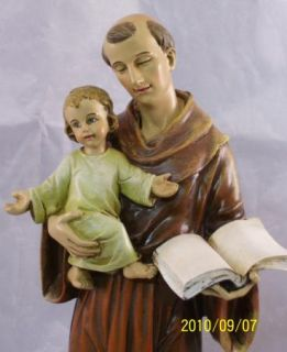 St Saint Anthony Holding Baby Jesus Catholic Statue