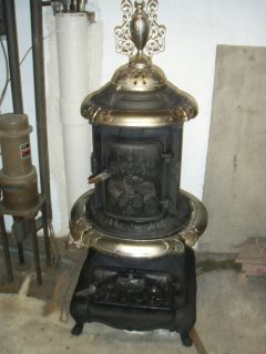 HUB Parlor Stove 1884 Heater Smith Anthony Boston WORKING Coal or Wood