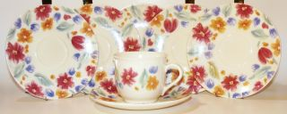 Arcopal France 12 Pieces Cups & Saucers Floride Pattern Vintage