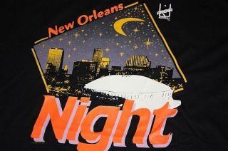 XXL vtg NOS 1991 NEW ORLEANS NIGHT arena football shirt