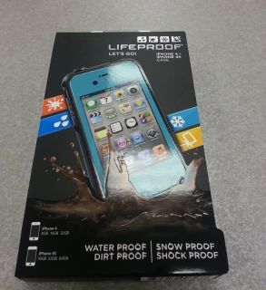 Brand New Lifeproof iPhone 4 4S Case Teal Aqua New In Box Apple Cover