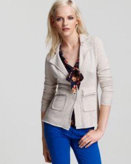 Aqua New Tan Cashmere Two Button Notch Collar Cardigan Sweater Blazer