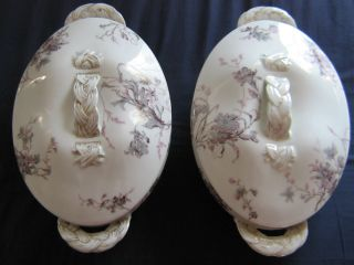 Antique Haviland Limoges China Set 2 Pair Covered Serving Dishes