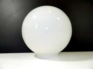 VINTAGE ANTIQUE MILK GLASS GLOBE SHADE LIGHT LAMP LARGE ROUND WHITE
