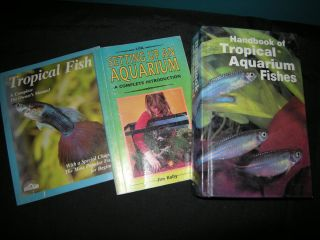 LOT of 3 Fish Aquarium Books/ Manuals  Care, Set up, Tropical Fish