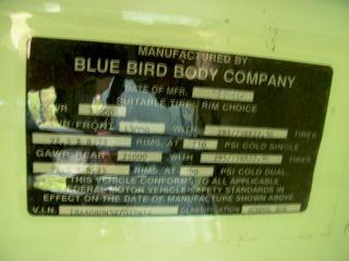 1996 Blue Bird Diesel Electric School Bus El 2 Parts Only