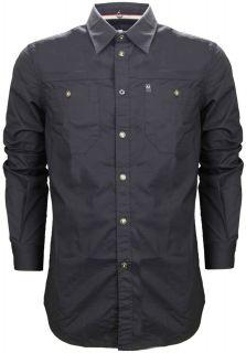 armani jeans regular fit stretch shirt black regular fit branded