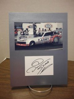 Don Prudhomme Autograph THE SNAKE NHRA Display Signed Signature COA