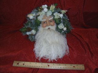 Victorian Santa Claus Wall Hanging Ornament Head Face Old World