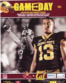 Cal Bears vs Arizona State Sun Devils Football Program 10 31 09 Chris