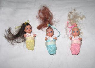 vintage 1980s Barbie Skipper doll babies triplets