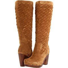 UGG Arroyo Wave Clog Tall womens boots NEW IN BOX dark chestnut size 9