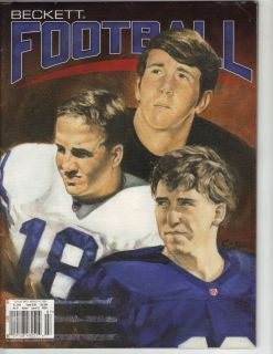 Archie, Eli, Peyton Manning Beckett Football magazine price guide July
