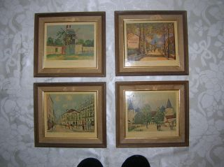 VINTAGE MAURICE UTRILLO PRINTS FRAMED BY CRAFTED BY FRANKLIN FRAME