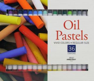 Pro Art Oil Pastels 36 Crayons Vivid Colors Regular Size
