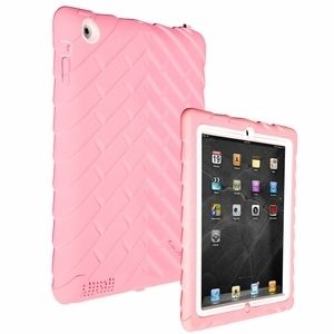 Drop Tech Series Case Cover Apple iPad2 New iPad 3 Pink White