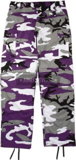 Ultra Violet Purple Camouflage Military BDU Cargo Polyester Cotton
