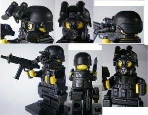custom swat police helmet military gun army weapons LEGO minifigures