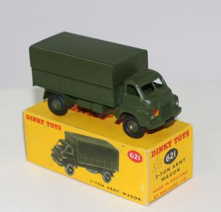 Military Dinky Toys 621 3 Ton Army Truck Early Issue Without Driver