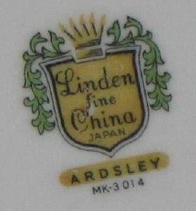 Linden Fine China Japan Ardsley Dinner Plates Lot of 4
