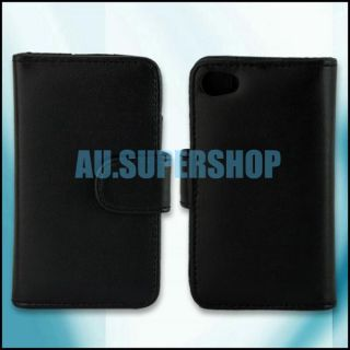 Wallet Flip Leather Pouch Case for Apple iPod Touch 4 4th 4G