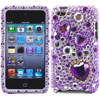 Purple Bling Crystal Case Cover iPod Touch 4 4th Gen 4G