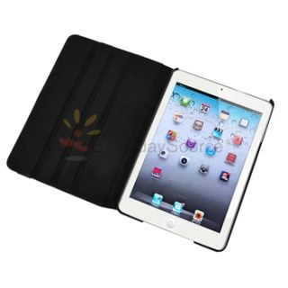 Snap on Leather Case Stand Cover Pouch for iPad Mini Tablet