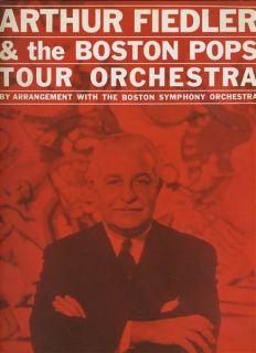 Arthur Fiedler Boston Pops Tour Orchestra Souvenir Program 1960