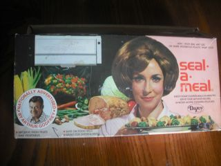 Seal A Meal Food Sealer Nationally Advertised by Arthur Godfrey