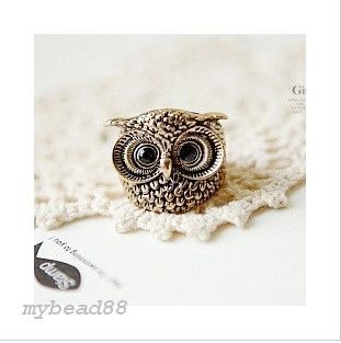 New Arrivals Popular Clever Lovely Retro Owl Charm Ring Free SHIP