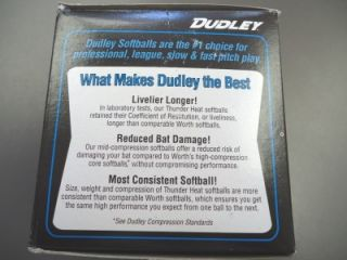 new 12 asa softball by dudley synthetic cover 12 poly core center 44