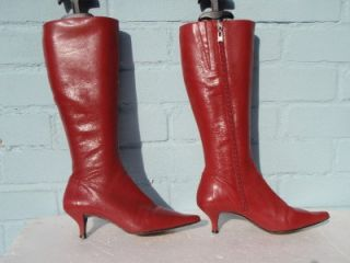 Sexy Red Arturo Chiang Leather Boots Ladies Size 3 5 36 5 Gift