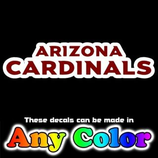 Arizona Cardinals Script 2 Color 17 Auto Car Truck Window Sticker