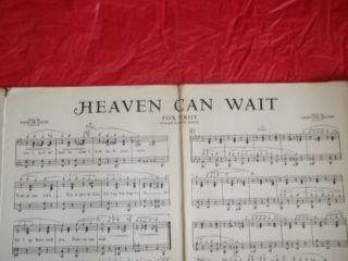 Big Band, Swing, Fox Trot Stock Sheet Music,HEAVEN CAN WAIT 1939 Jimmy