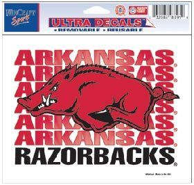 Arkansas Razorbacks Color Ultra Cling Decal 5x6 Hogs Sticker Cling In