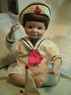 Ashton Drake Galleries Porcelain Doll Justin No Box 9 Tall 1991 Birth