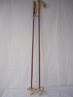 Vintage Vtg Liljedahl Bamboo Cross Country Ski Poles 137cm
