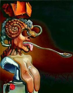 Salvador Dali Portrait Picasso Figurine Figure Statue