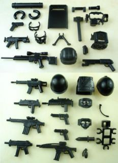 Police Gun Military Army Weapons 31 Parts for Lego Minifigures