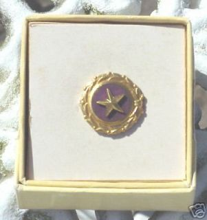 WWII Military Mothers Gold Star Military Pin Mint 1947