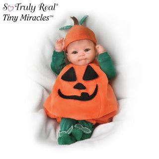 Ashton Drake Tiny Miracles PunKin So Truly Real Halloween Realistic