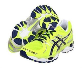 Asics Mens Gel Nimbus 14 Running Shoes Neon Yellow Lightning T241N