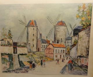 Maurice Utrillo Windmills of Montmartre Print 8 x 10