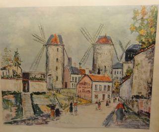 Maurice Utrillo Windmills of Montmartre Print 8 x 10