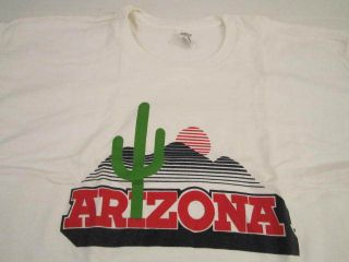 ARIZONA wildcats university big logo basketball shirt vtg xl t shirt