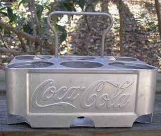 Coca Cola Aluminuim Six Pack Bottle Carrier 1950s Arkansas City Kansas