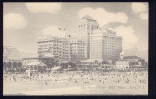 Chalfonte Haddon Hall Atlantic City New Jersey Postcard
