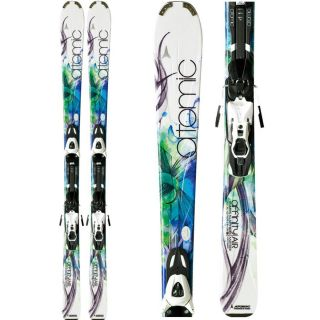 Womens SKIS Atomic Affinity Air 140cm Downhill Ski XTL 9 Bindings 2012