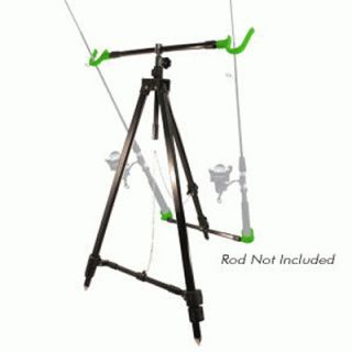Free Style Tripod Dual Fishing Rod Holder Stand 49 0103 W