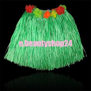 Adult Kids Hawaiian Artificial Grass Skirt Hula Luau Fancy Dress 40cm